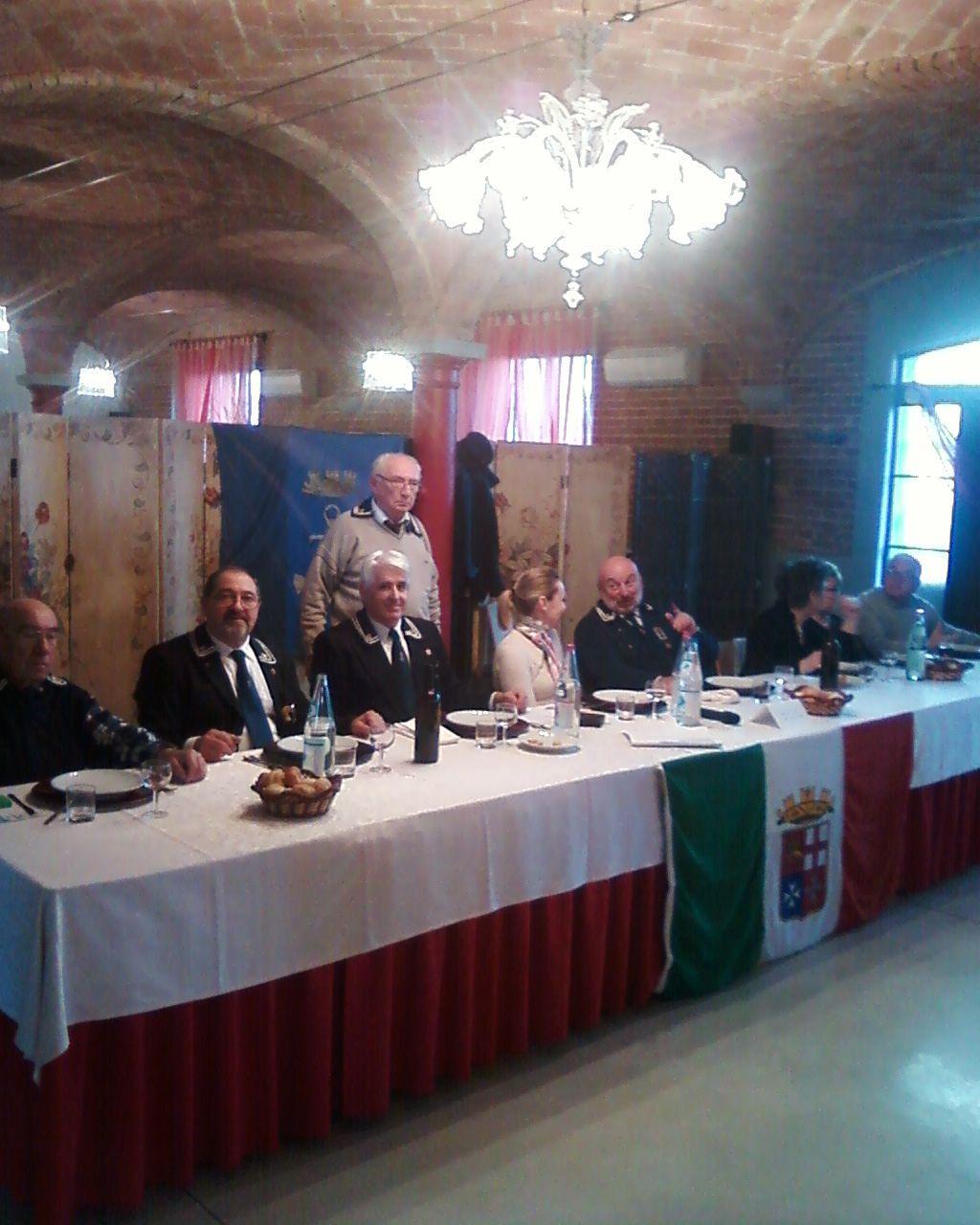 Tavolo della Presidenza Festa di S.Barbara 2012