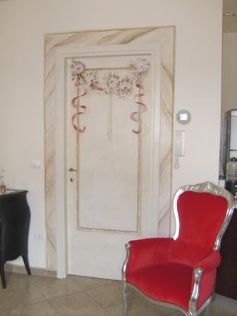 porta rasata con stucco e gesso