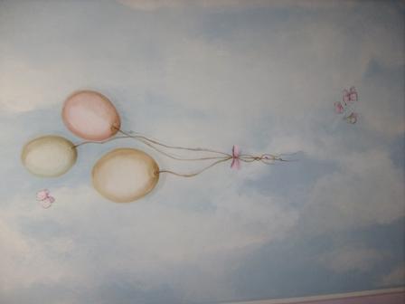 soffitto cameretta con palloncini