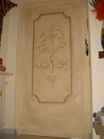 porta blindata rasata a gesso