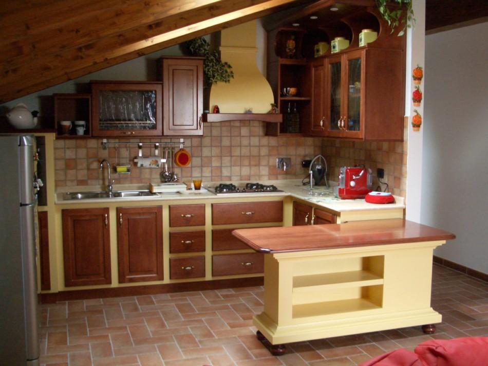 Falegnameria powered by - Penisola cucina in muratura ...