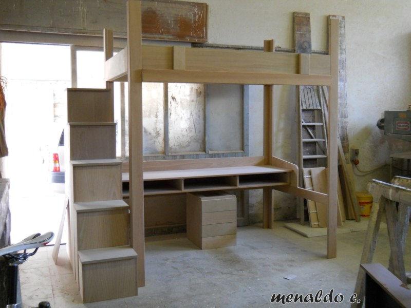 Falegnameria powered by - Letto a soppalco con scrivania ...