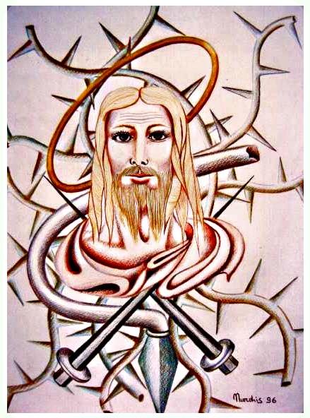 Cristo Tra Chiodi e Spine