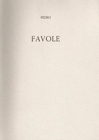 FEDRO - FAVOLE