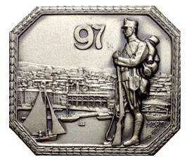 Kappenabzeichen K.u.K. IR 97°