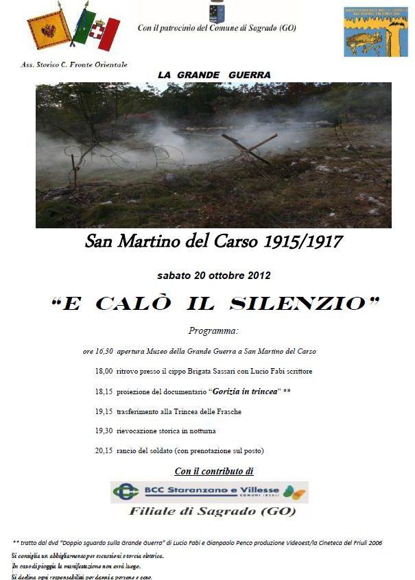 San Martino del Carso 20 ottobre 2012