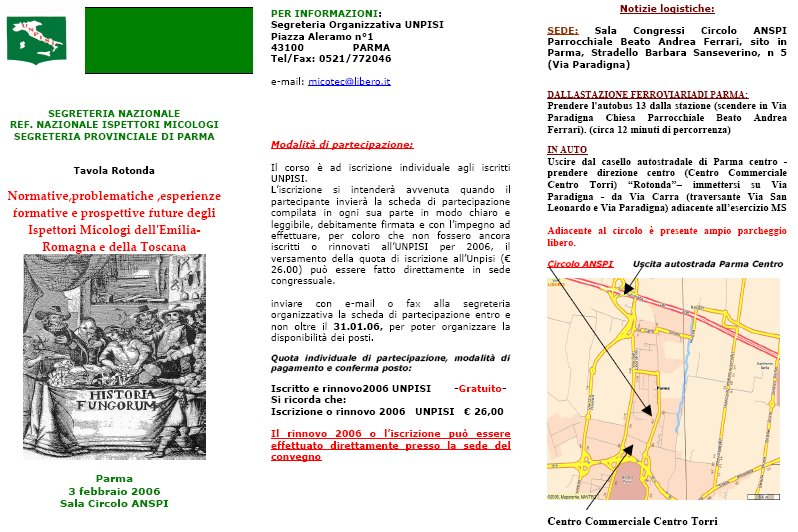 Locandina Tavola Rotonda UNPISI 2006