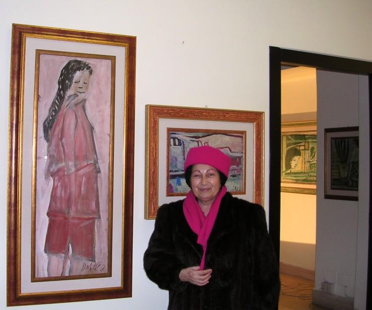 Il critico M.T.Palitta in visita alla mostra