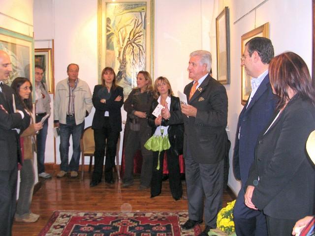 Il giornalista Rai Augusto Girdano alla Galleria Crispi di Roma