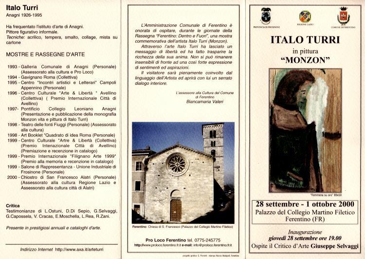 Locandina Mostra Palazzo Martino Filetico