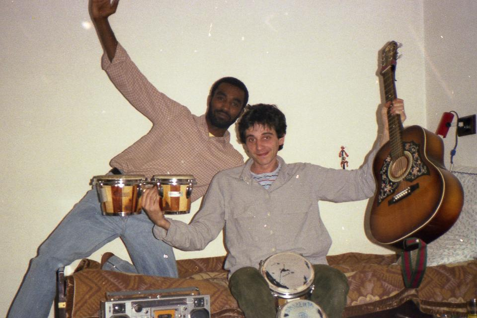io e Aatif anni 80