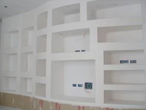 Forum parete atterezzata libreria in cartongesso con piantina - Parete mobile in cartongesso ...