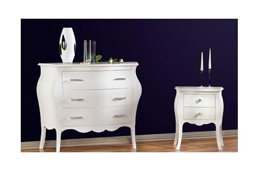 Rattan arte ingrosso mobili for Comodini bianchi