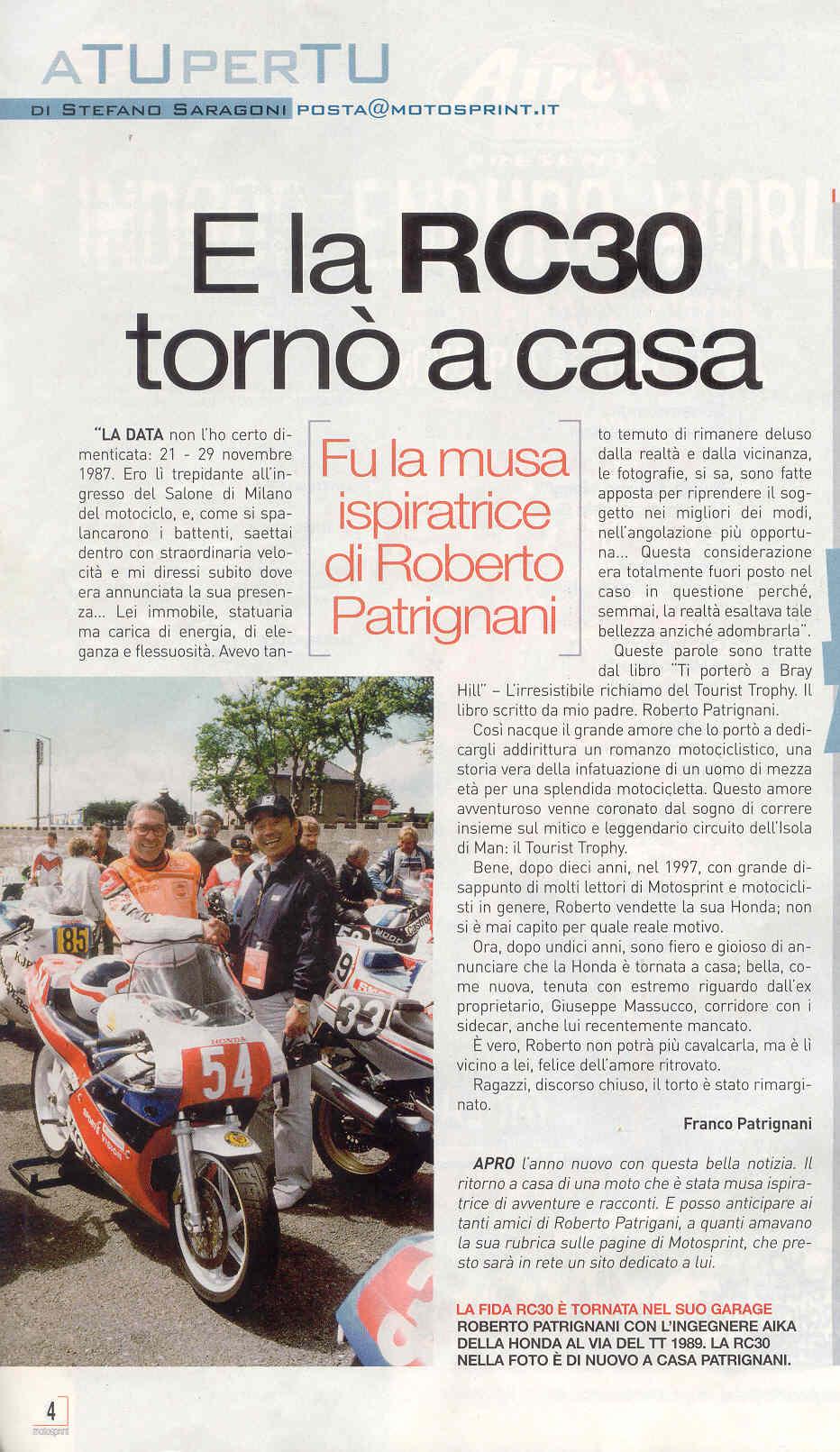 Motosprint n.1 gennaio 2009