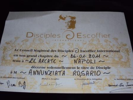 DISCEPOLO DI ESCOFFIER