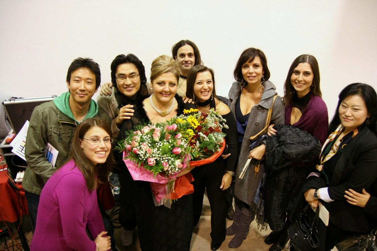 Silvia Ranalli con gli allievi