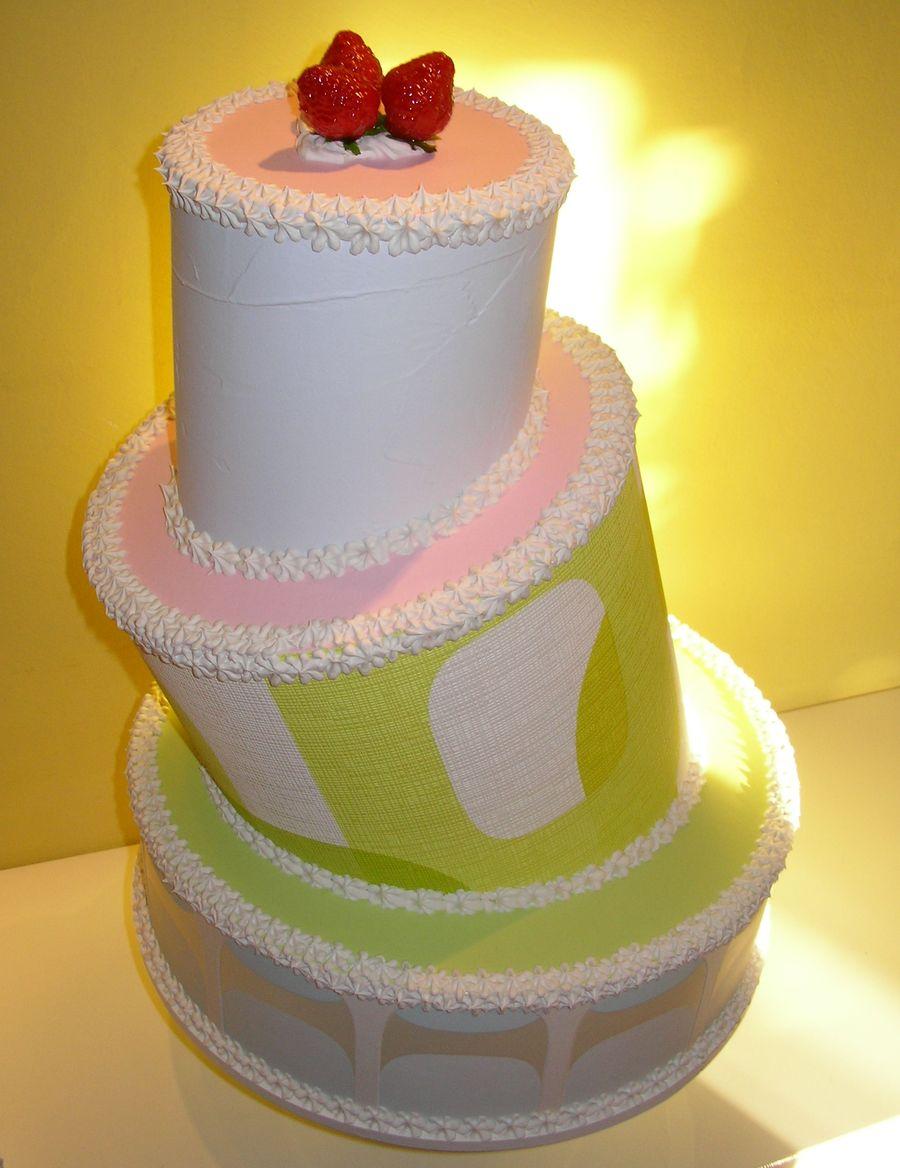 torta a 3 piani geometrica