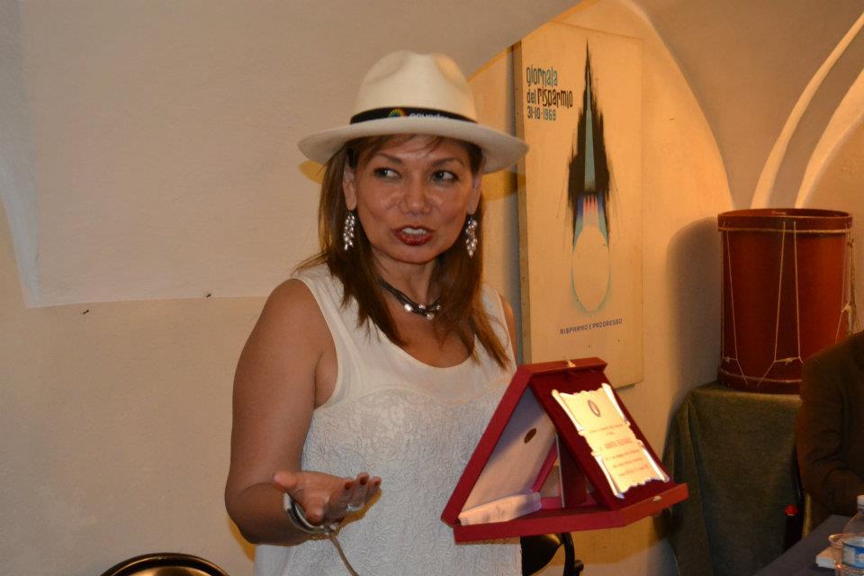 Incontro letterario con Aminta Buenaño, Savona ITALIA